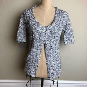 Anthropologie knit split back/front cardigan